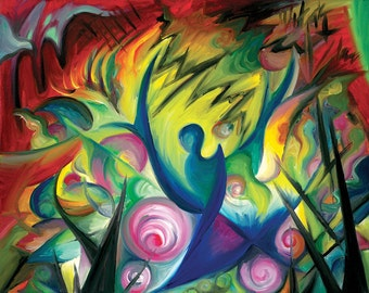 Causing A Scene, Abstract Expressionist Painting, by Tiffany Davis-Rustam