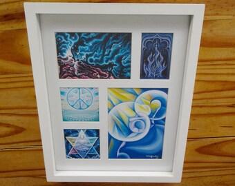 5 Prints in 1 Frame, Visionary Art, by Tiffany Davis-Rustam