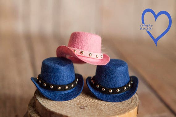 9aafb999a7483 Cute Blue or Pink Felt Newborn Baby Prop Hat Perfect for