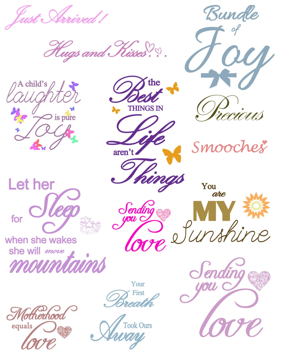 Instant download of Baby Quotes and Rainbow Baby Quote on ...