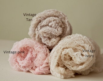 Fluffy Textured 4 feet long very open weave cotton Newborn Wrap semi-stretch Wrap  Baby Wrap, fluffy open weave cheesecloth 10+ colors