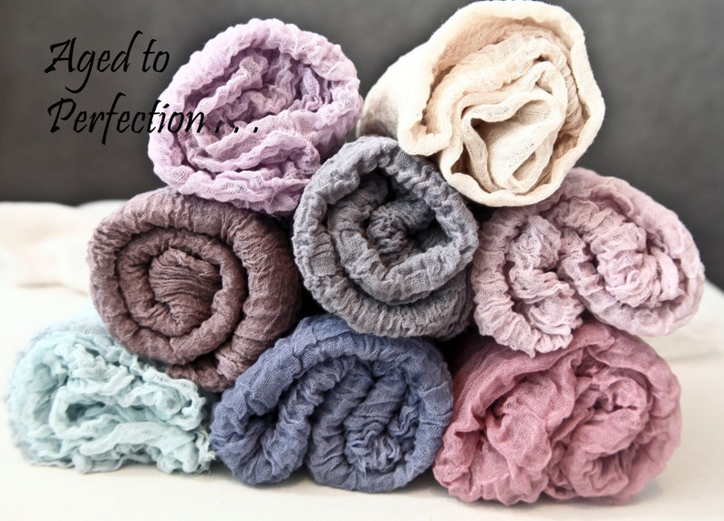 FREE headtie Aged to Perfection Cotton Gauze Swaddle Newborn Photo Prop Cheesecloth Wrap 5 feet long ting Pick 5~ 4 feet long swaddle wrap