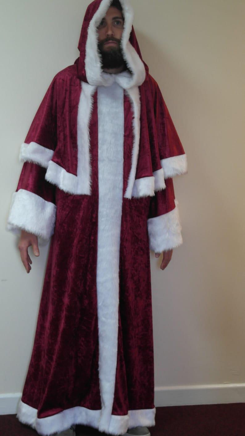 eb5140cea7 Velvet St Nicholas Father Christmas Victorian Santa Xmas