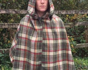 Italian wool shawl with hood