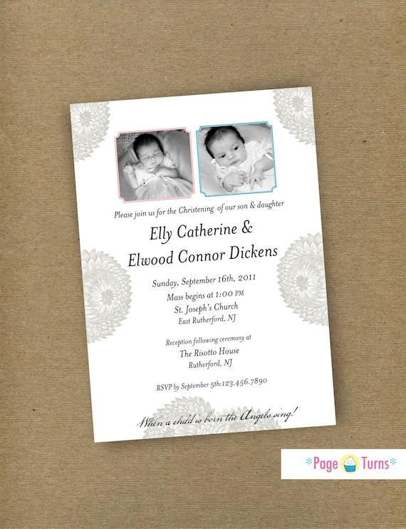 items similar to custom christening baptism photo card