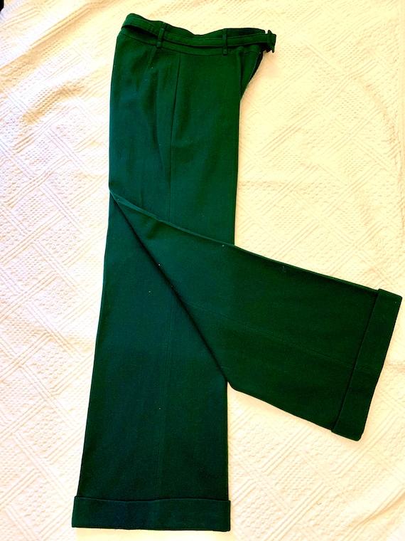 1970's does 40's Bottle Green Wide-legged Woollen… - image 3