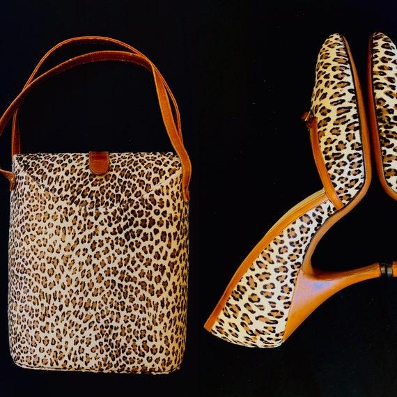 1950's Animal Print Bag and Shoe Set