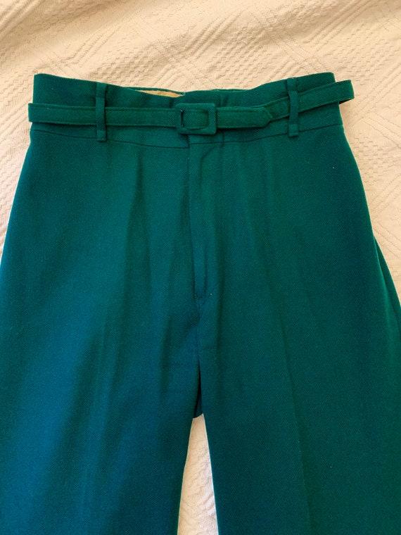 1970's does 40's Bottle Green Wide-legged Woollen… - image 2