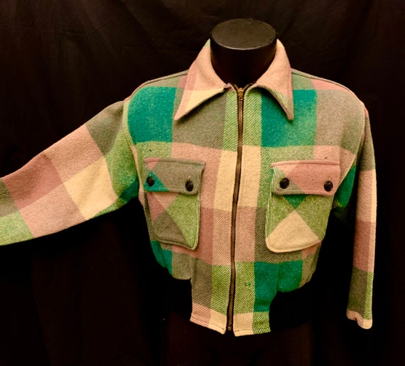 Men's 1930's Montgomery Ward Cropped Checked Wolle