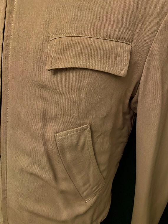 Men's 1940's Grey Gab Zip upJacket by Puritan Spo… - image 2