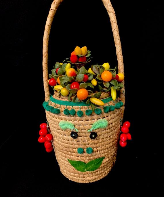 1950's Kitsch Tutti-Fruiti Novelty Resort Bag