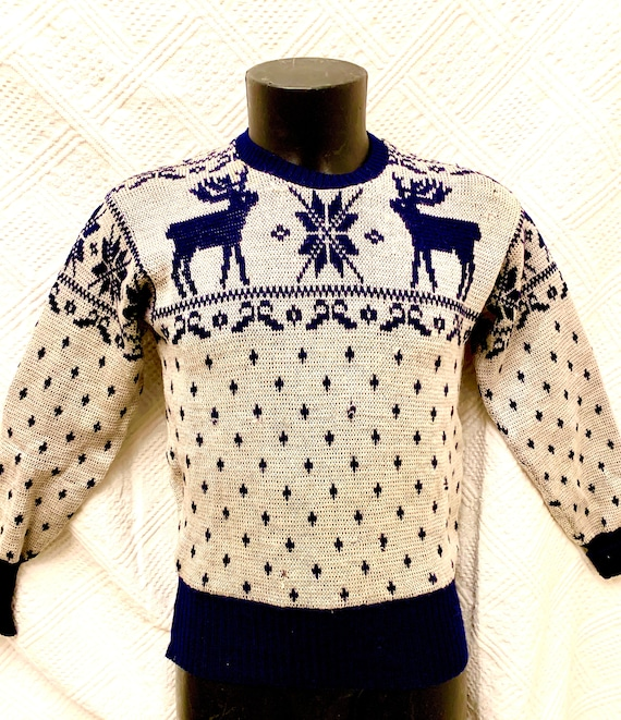 Men's 1950's Jantzen Alpine Knitted Crew Neck  Swe