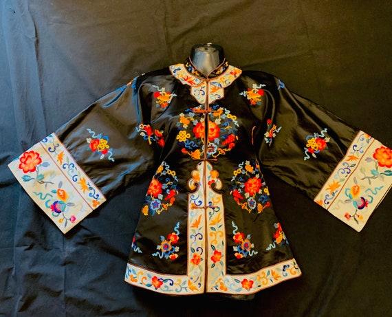 1940's Women's Oriental  Silk Embroidered Jacket
