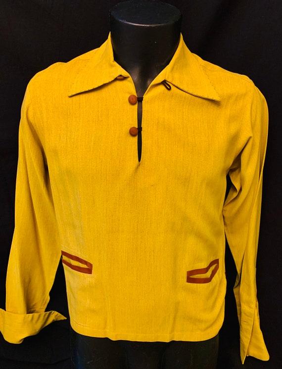 Men's 1940's Gaucho Pullover  Gab Shirt by Paul H… - image 2
