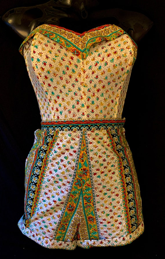 1950's Women's  British made Indian Cotton Print S
