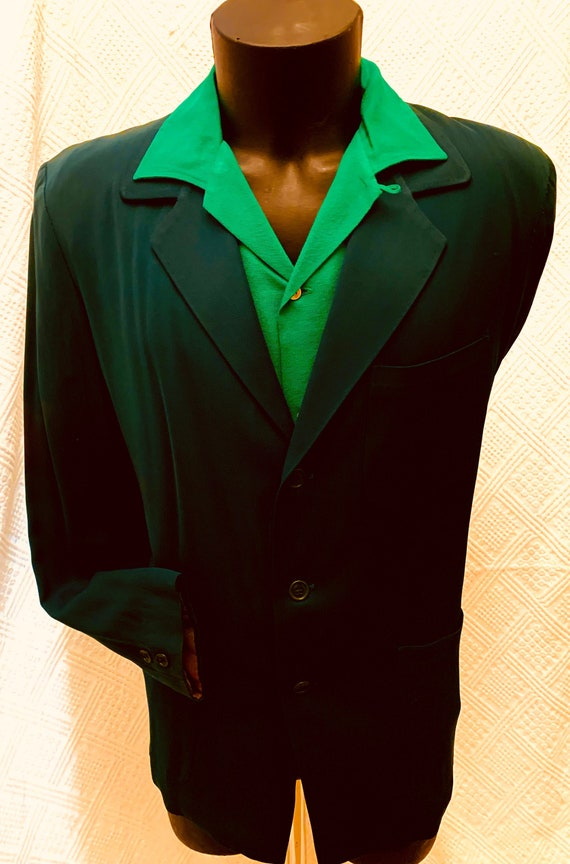 Size 38 Regular vintage 1960/'s -Timely Clothes- Men/'s 2 piece suit Charcoal tone-on-tone stripe 3 button /'sack/' w flat front pants