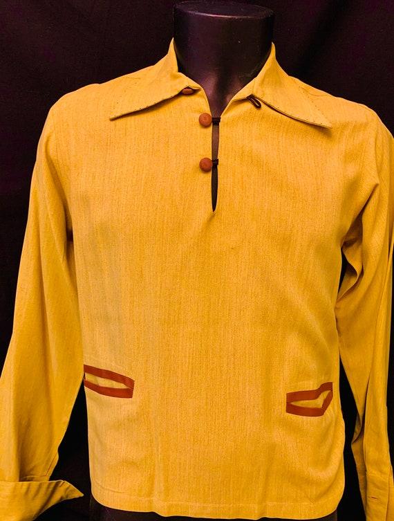 Men's 1940's Gaucho Pullover  Gab Shirt by Paul H… - image 3