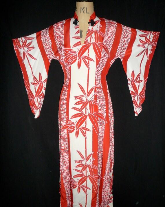 1950's Women's  Kamehameha Bamboo Print Women's Ra