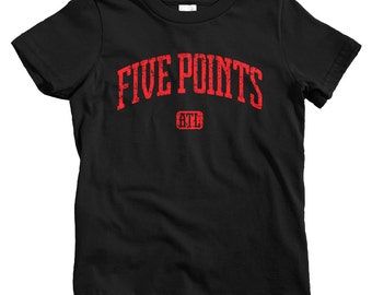 and Youth Sizes ATL Tee 4 Colors Kids Five Points Atlanta T-shirt Georgia Baby Toddler