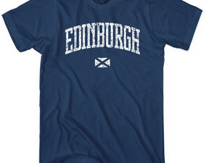 Featured listing image: Edinburgh T-shirt - Men and Unisex - Scotland Tee - XS S M L XL 2x 3x 4x - 4 Colors