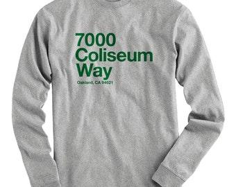 46d14e6b23ee LS Oakland Baseball Stadium Tee - Long Sleeve T-shirt - Men S M L XL 2x 3x  4x - Oakland Shirt, Bay Area, Coliseum, Sports