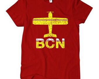 e26965963 Women s Barcelona BCN Airport Tee - S M L XL 2x - Ladies  Barcelona T-shirt  - Spain - 2 Colors