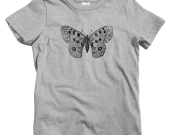 6b08b5fd0e9708 Kids Apollo Mountain Butterfly T-shirt - Baby, Toddler, and Youth Sizes -  Parnassius Kids, Nature Kids, Butterfly Gift