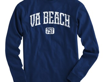 0aa27f37c LS Virginia Beach 757 Tee - Long Sleeve T-shirt - Men S M L XL 2x 3x 4x - Virginia  Beach Shirt