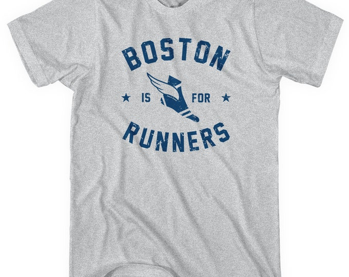Featured listing image: Boston Is For Runners T-shirt - Men and Unisex - XS S M L XL 2x 3x 4x - Running Tee - 4 Colors