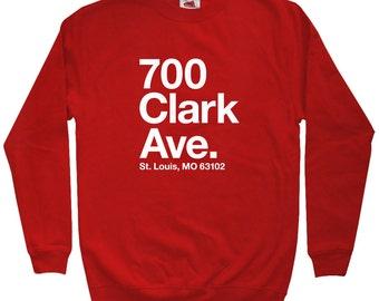 St Louis Baseball Stadium Long Sleeve T-shirt LS Men S-4X Cardinals Fan Gift