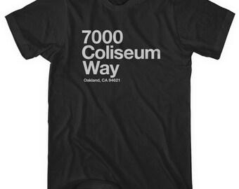 e7c508a7a62d Oakland Football Stadium T-shirt - Men and Unisex - XS S M L XL 2x 3x 4x - Oakland  Tee, Sports, Coliseum, Bay Area - 4 Colors