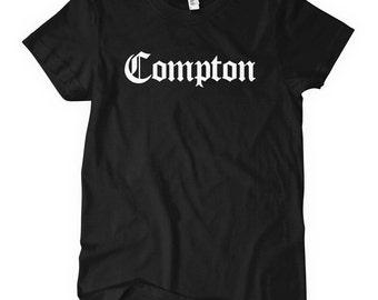 Women s Compton T-shirt - Gothic - S M L XL 2x - Ladies Los Angeles Tee - 4  Colors 706a84ee4