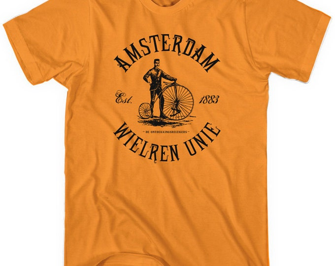Featured listing image: Amsterdam Bicycle Club T-shirt - Men and Unisex - Holland Cycling - XS S M L XL 2x 3x 4x - 4 Colors