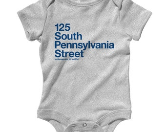 Notre Dame Baby Infant Romper South Bend 574 Indiana One Piece NB to 24M