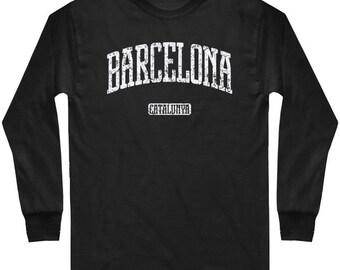 a9924abdf LS Barcelona Tee - Long Sleeve T-shirt - Men Catalunya - S M L XL 2x 3x 4x