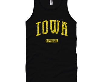 621e51e3729a Iowa Represent Tank Top - Unisex - XS S M L XL 2x - Iowa Tank T-shirt - Men  and Women