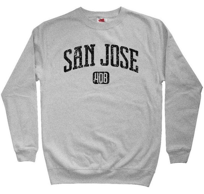 Crewneck San Jose Shirt Men S M L XL 2x San Jose 408 Sweatshirt California