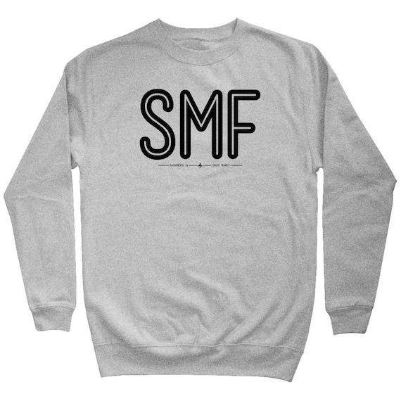 Pilot Sweatshirt Airport Sweatshirt Iata Code Sweatshirt Flying Shirt Men S M L XL 2x SMF Sacramento Airport Sweatshirt Crewneck