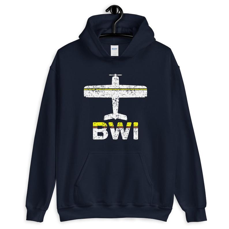 Baltimore Hoodie Men S M L XL 2x Gift for Men Aviation Hoodie Vintage Plane Hoody Fly Baltimore BWI Airport Hoodie Pilot Hoodie Her