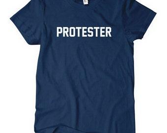 Women's Protester T-shirt - S M L XL 2x - Ladies' Protest Tee - 4 Colors