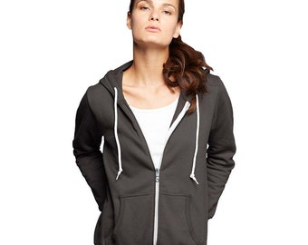 Women's Zip Hoody - Any Design in Our Shop on a Hoody with Custom Colors - S M L XL 2x - Ladies Zip-Up Hoodie Sweatshirt