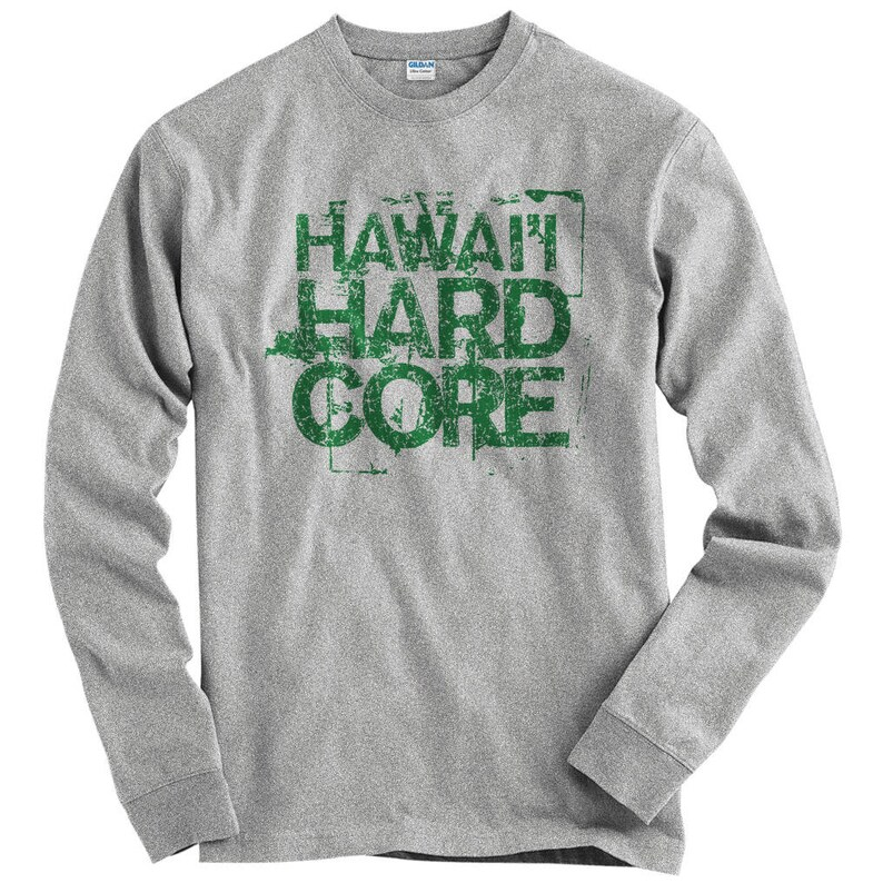 472a9d0e LS Hawaii Hardcore Tee Long Sleeve T-shirt Men S M L XL 2x | Etsy