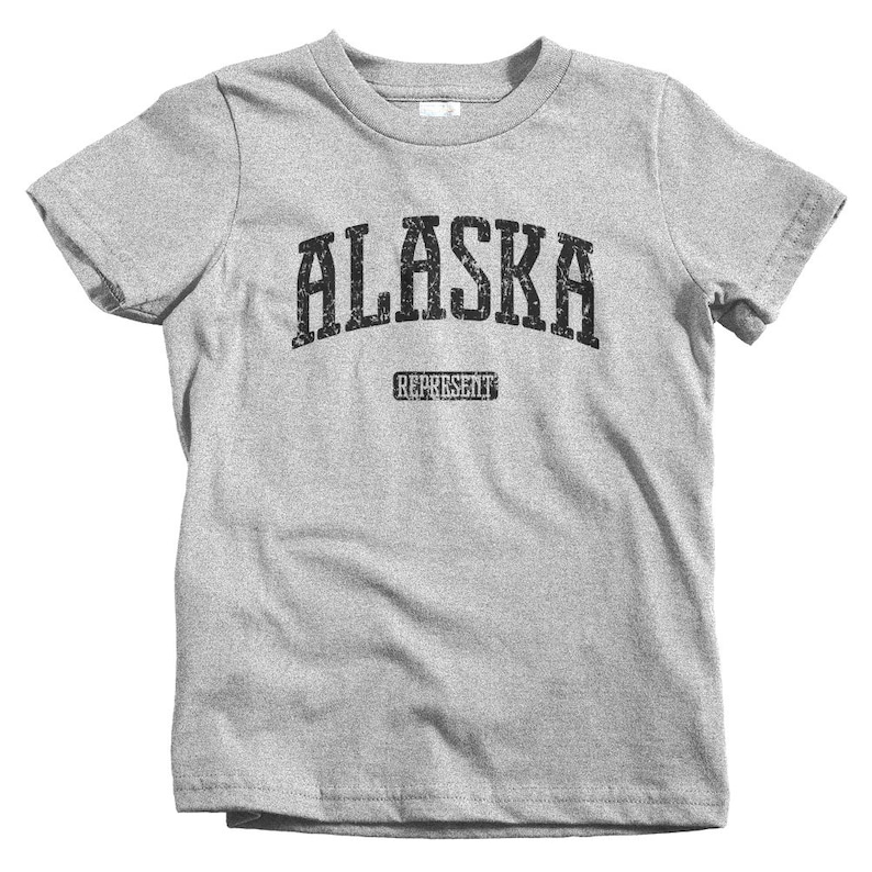 Baby Toddler Kids Alaska Represent T-shirt and Youth Sizes Anchorage 4 Colors Fairbanks Juneau Sitka Alaska Tee