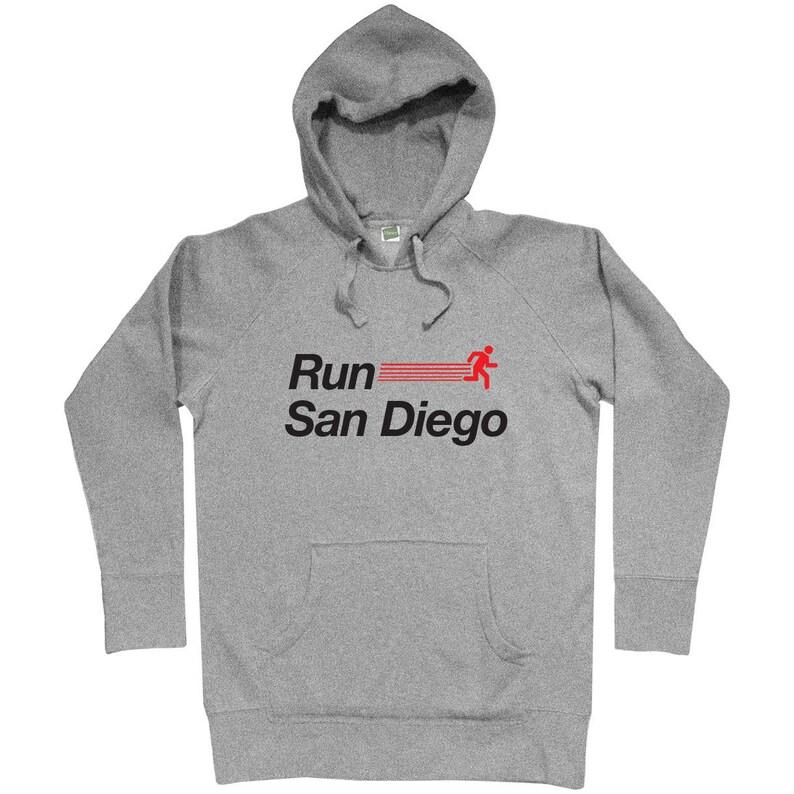 Run San Diego V2 Hoodie Her San Diego Running Hoody Gift for Men Run San Men S M L XL 2x Sweatshirt San Diego Jogging Hoody