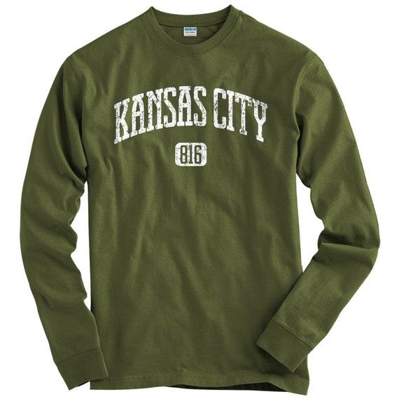LS Kansas City 816 Tee Long Sleeve T shirt Men S M L XL 2x 3x 4x Kansas City Shirt, KCMO, Missouri