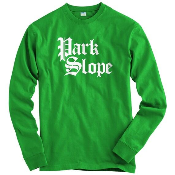 LS Park Slope T-shirt Gothic Brooklyn Long Sleeve Tee Men  369e3f68321