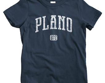 Kids Plano 972 T-shirt - Baby, Toddler, and Youth Sizes - Plano Texas Tee, DFW, Dallas - 4 Colors