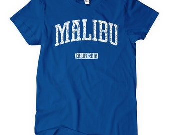 Women's Malibu California T-shirt - S M L XL 2x - Ladies' Malibu Tee, Gift, Malibu Shirt, Malibu Beach, Surfing, Surfer, Travel, Vacation CA