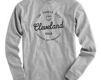 LS Enjoy Cleveland Tee - Long Sleeve T-shirt - Men S M L XL 2x 3x 4x - The Forest City Shirt, Cleveland Ohio Shirt, Clevelander, The 216