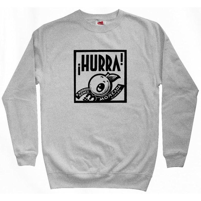 Men S M L XL 2x Art Deco Hurra Sweatshirt Valencia Vintage Spanish Spain Shirt